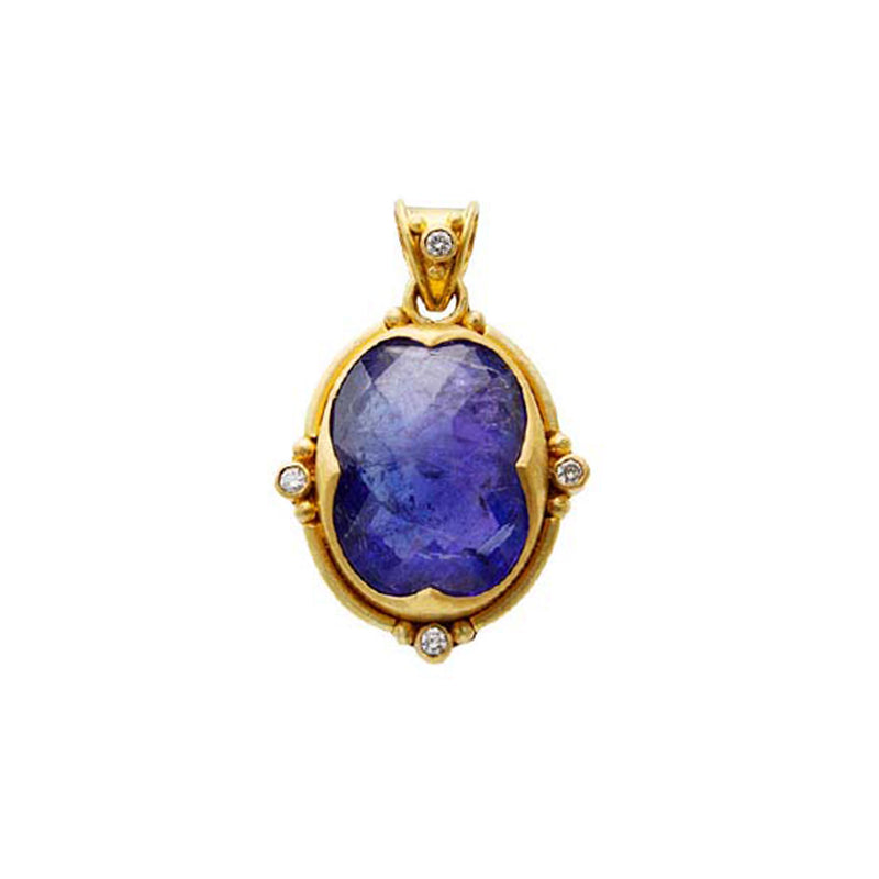 22k, Tanzanite & Diamond Pendant