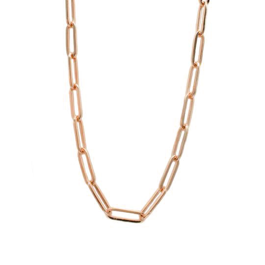 Rose Gold Paperclip chain
