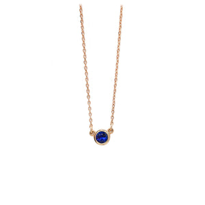 Sapphire Everyday Necklace in Rose