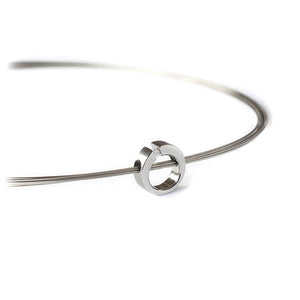 Steel & Diamond Luna Necklace