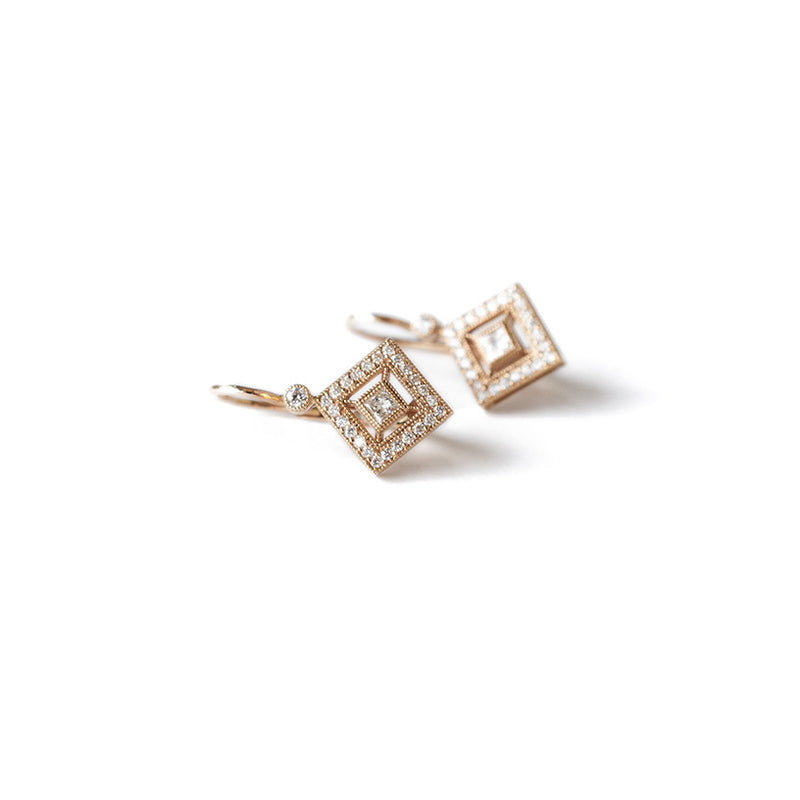 Pave' Princess Earrings