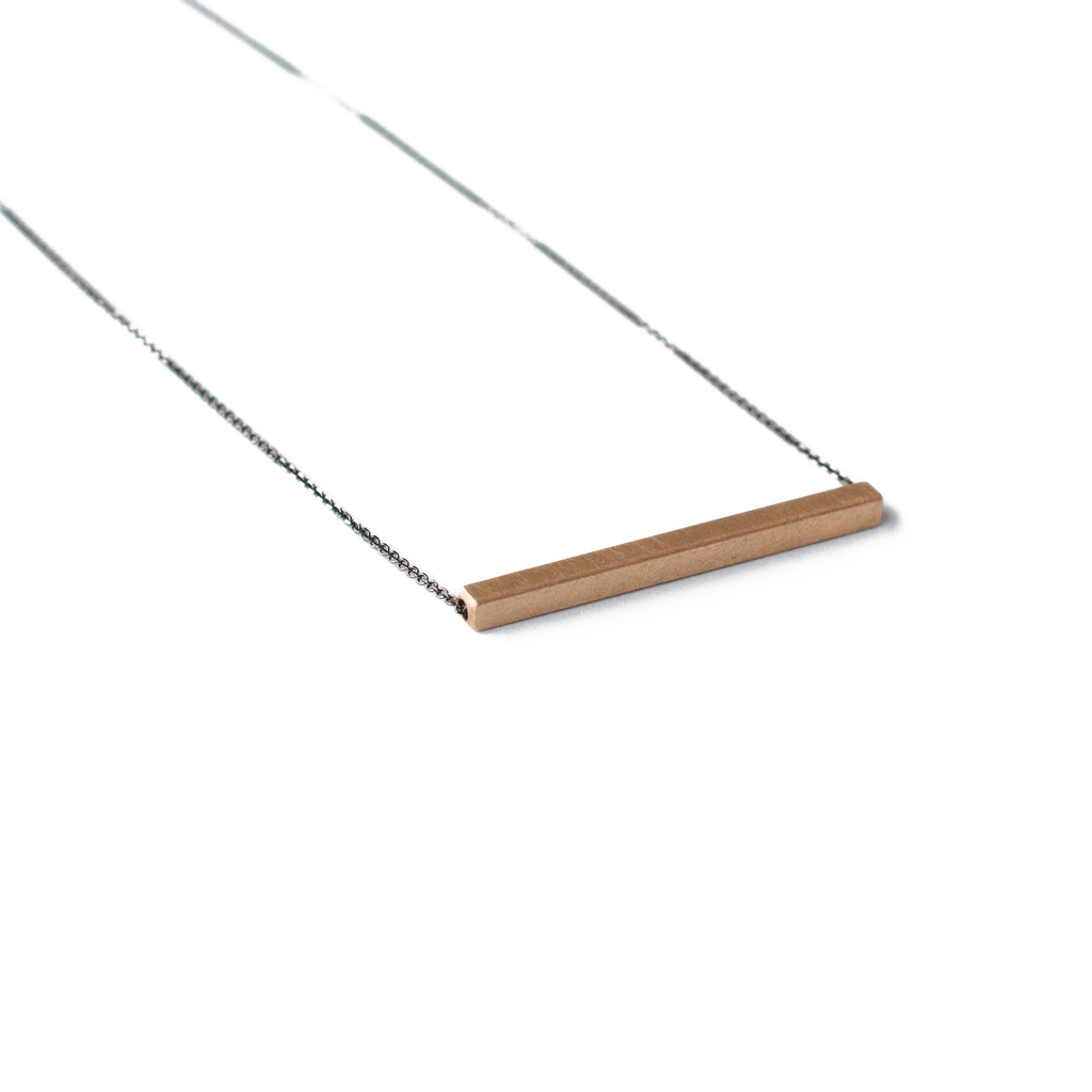 Modern Bar Necklace in Rose