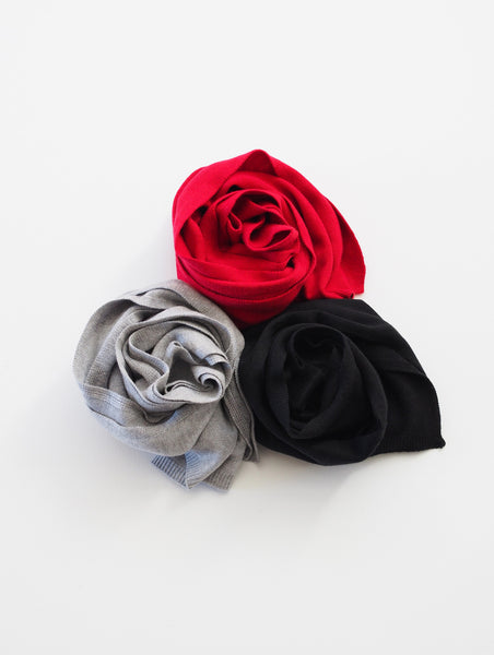 SCARVES - 3-PC Gift Set (Black/Grey/Rasp)