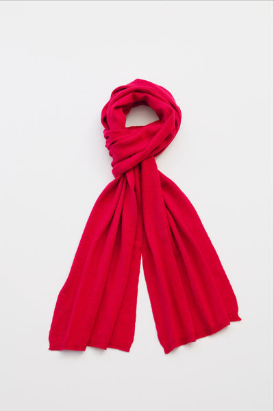 Classic Long Scarf - Easy-Care (Raspberry)