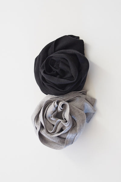 SCARVES - 2-PC Gift Set (Black-Grey)