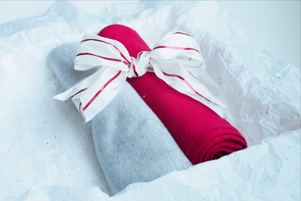 SCARVES - 2-PC Gift Set (Grey-Raspberry)