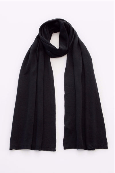 Classic Long Scarf - Easy-Care (Black)