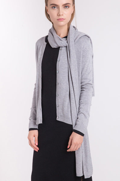 Classic Long Scarf - Easy-Care (Light Heather Grey)
