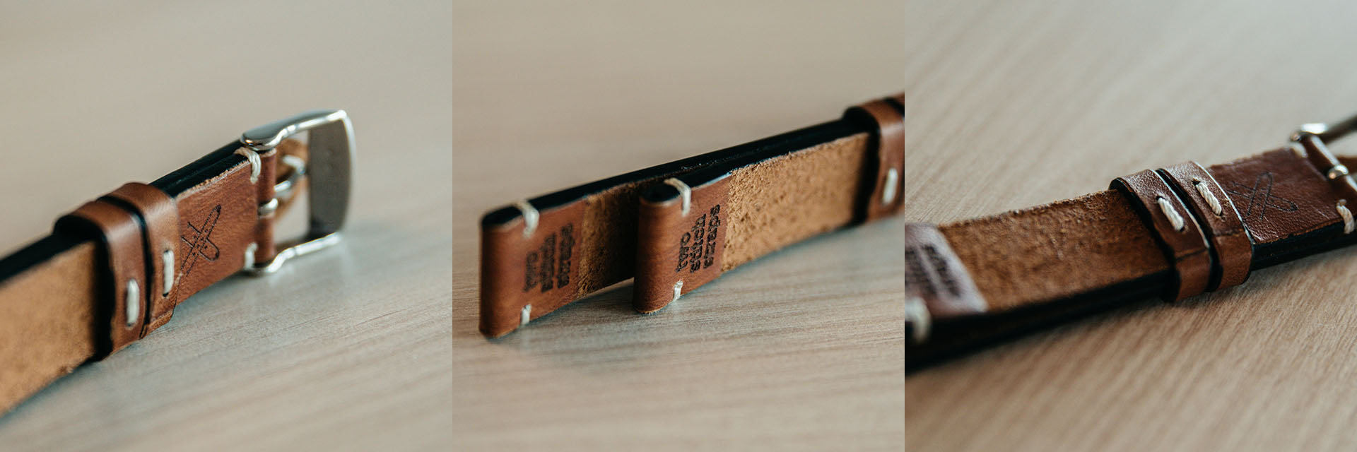 Two Stitch Handmade Leather Strap