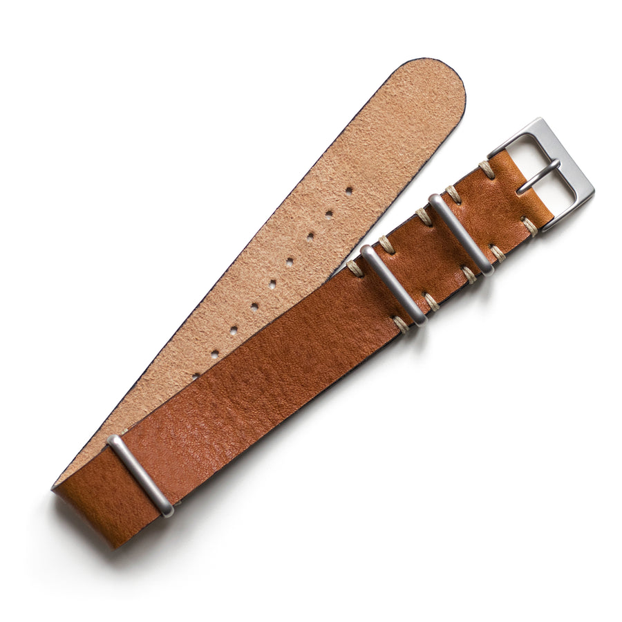 Caramel Leather NATO Watch Strap