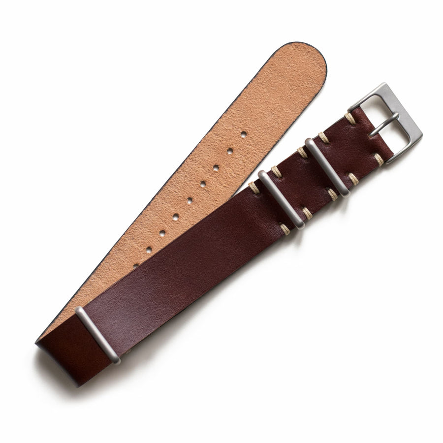 Chocolate Leather NATO Watch Strap