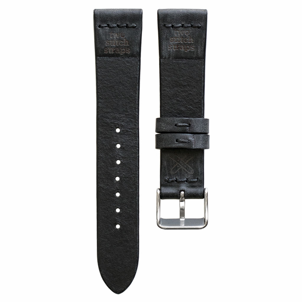 Cross-Stitch Coal Leather Watch Strap
