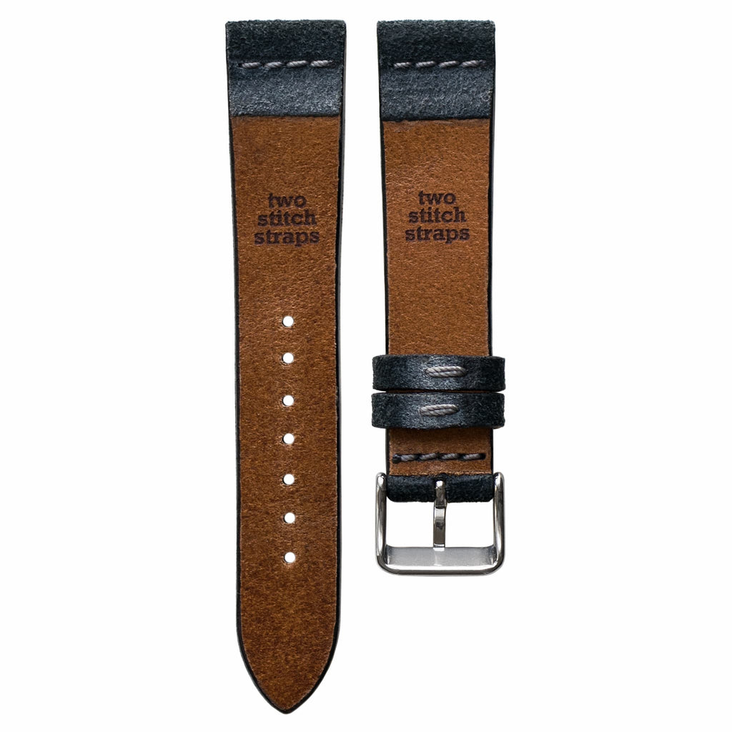 Cross-Stitch Grey Reversed Leather Watch Strap