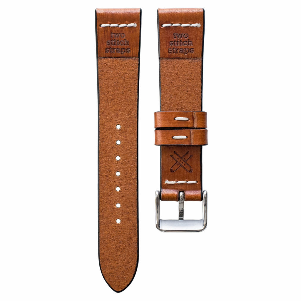 Cross-Stitch Honey Leather Watch Strap