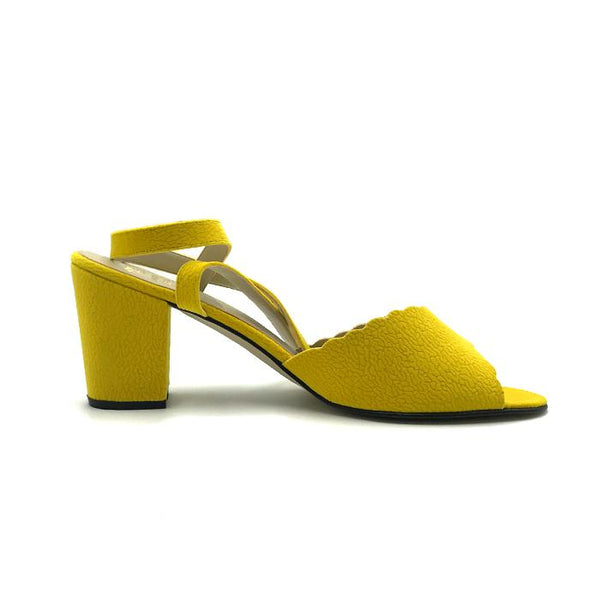 SH 11 yellow heel criss cross - ZBAZAAR