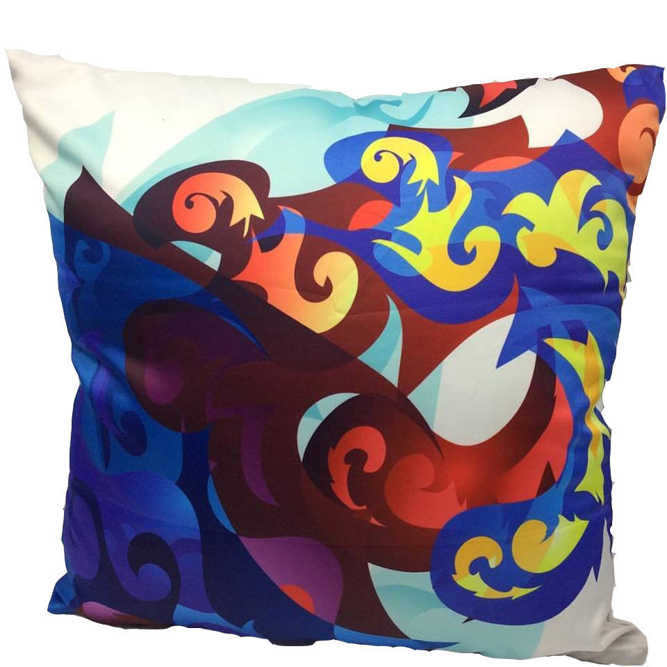 PILLOW CASE COVER - Printed the Same Design on Both Sides (Front & Back) - Satin Drill 15x15 Inches
