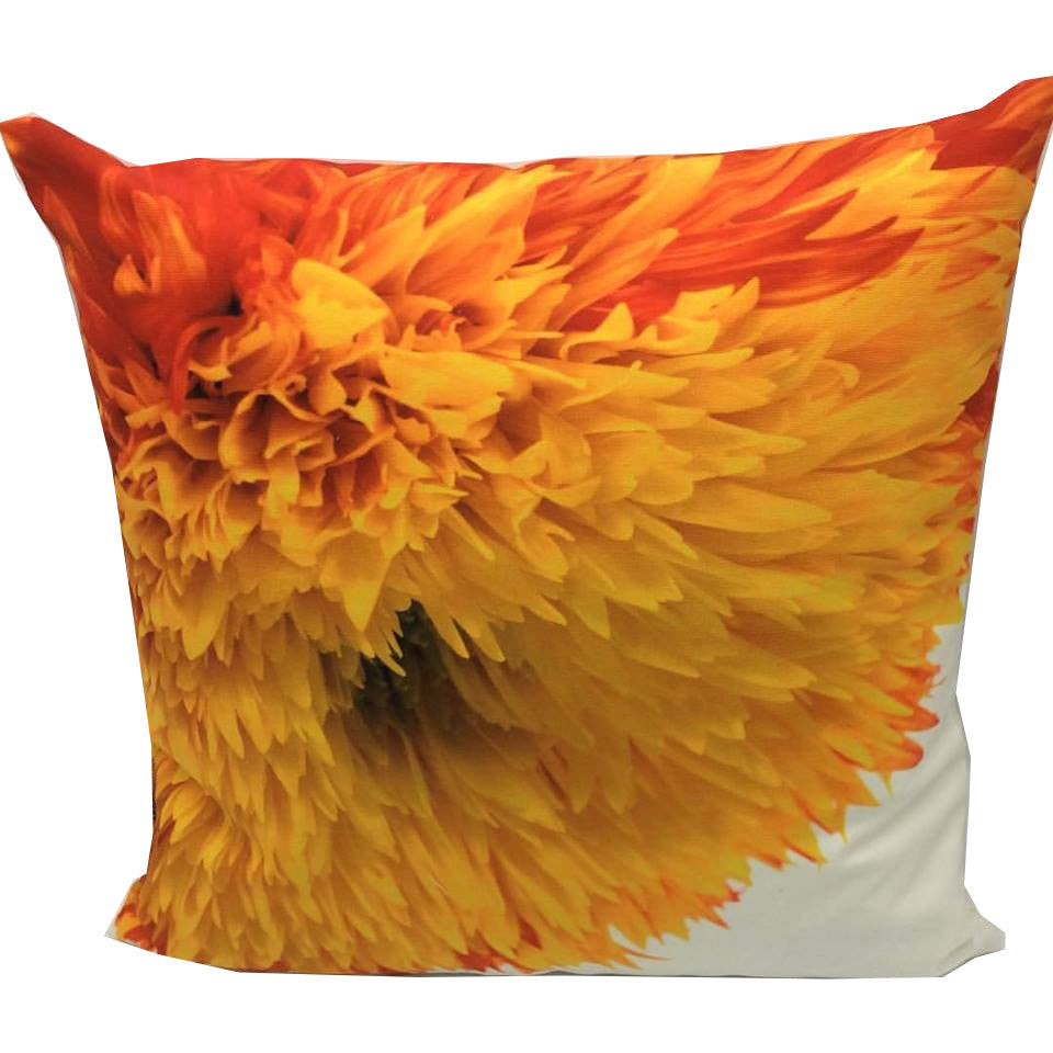 Throw Pillow Case Cover Fiery Sunflower - ZBAZAAR