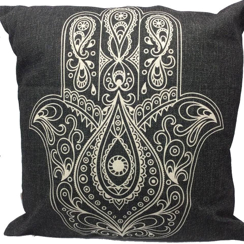 Throw Pillow Case Cover Hamsa Lucky Hand
