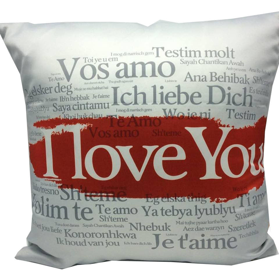 Throw Pillow Case Cover I love you International - ZBAZAAR