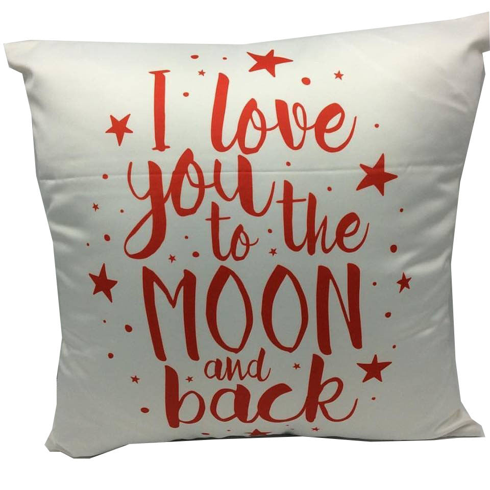 Throw Pillow Case Cover I Love You To The Moon - ZBAZAAR