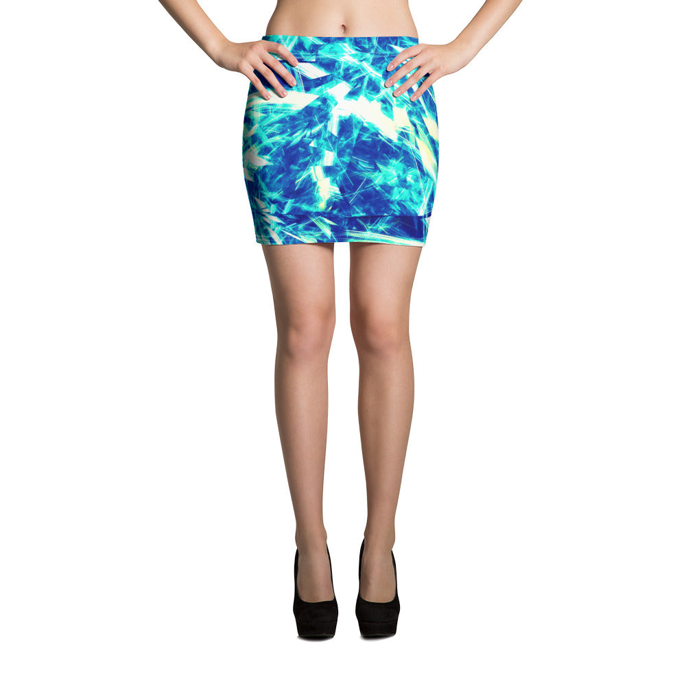 Blue Energy Mini Skirt - ZBAZAAR