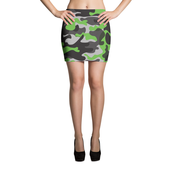 Mini Skirt / Green Camo - ZBAZAAR