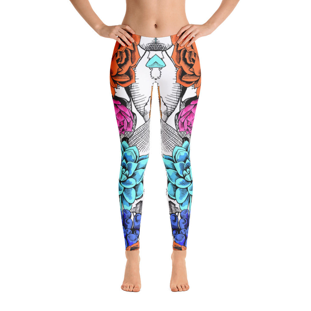 Danger Flower All-Over Legging - ZBAZAAR