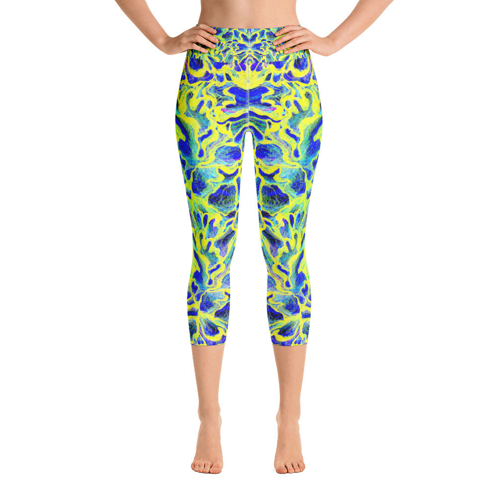 Colorful Skin Yoga Capri Legging - ZBAZAAR