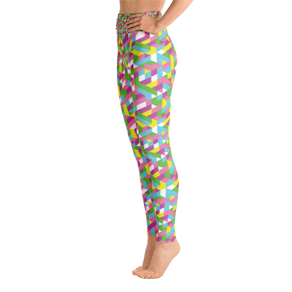 Yoga Leggings / Pastel Geometry