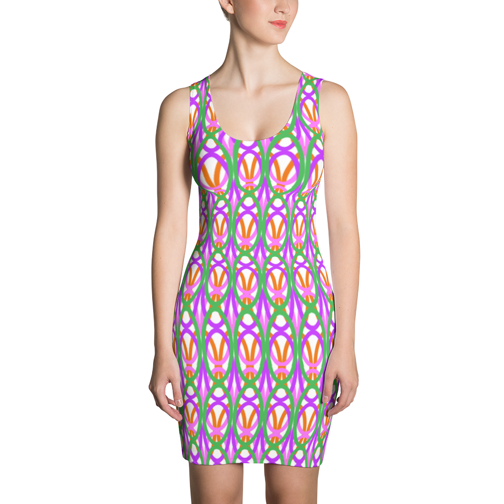 Sublimation Cut & Sew Dress / Spring Garden - ZBAZAAR