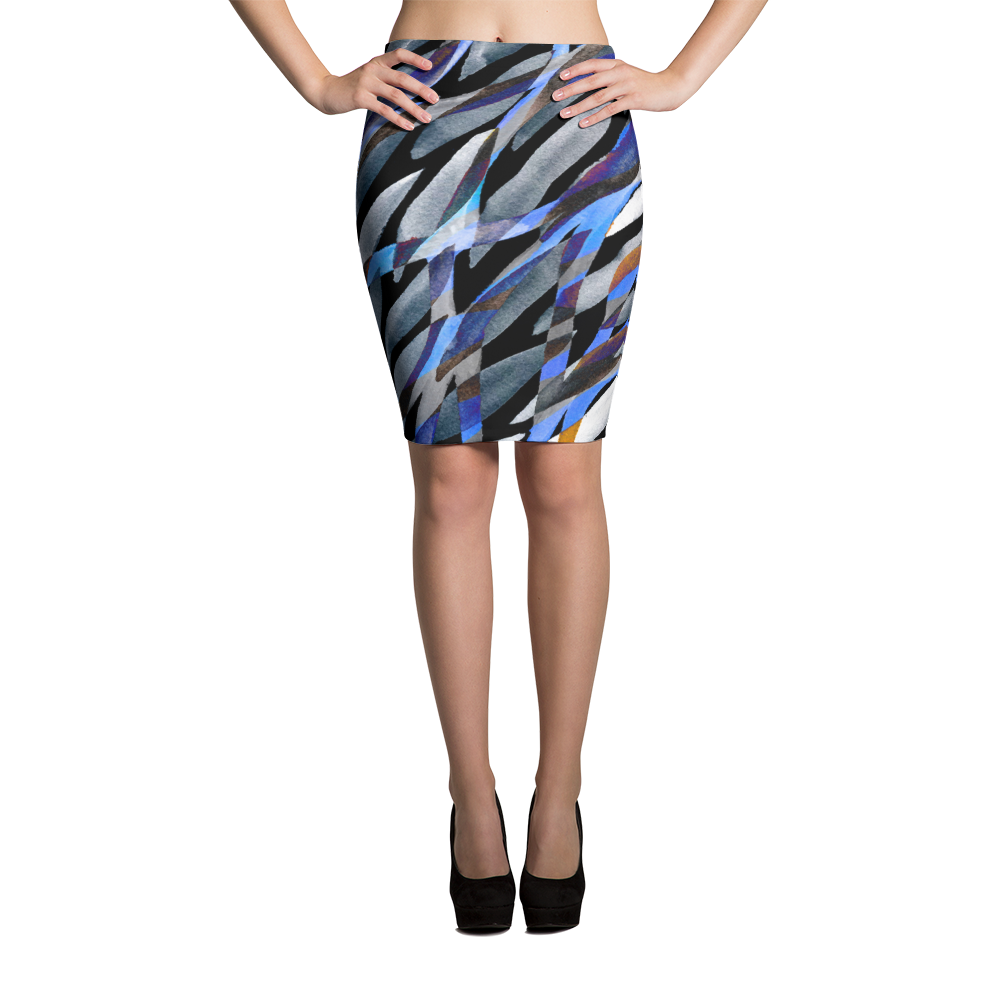 Pencil Skirt / Dark Rainstrom - ZBAZAAR