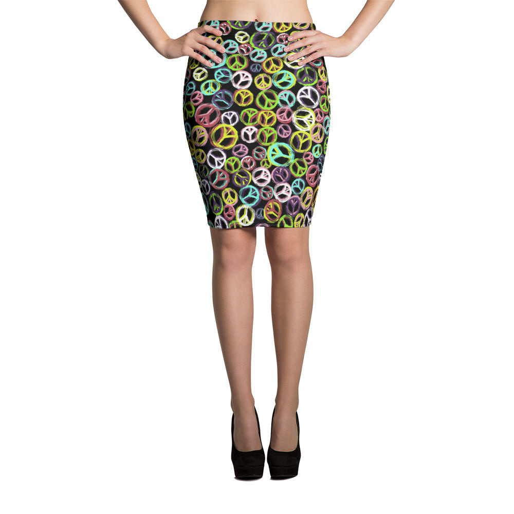 Colorful Rings Pencil Skirt - ZBAZAAR