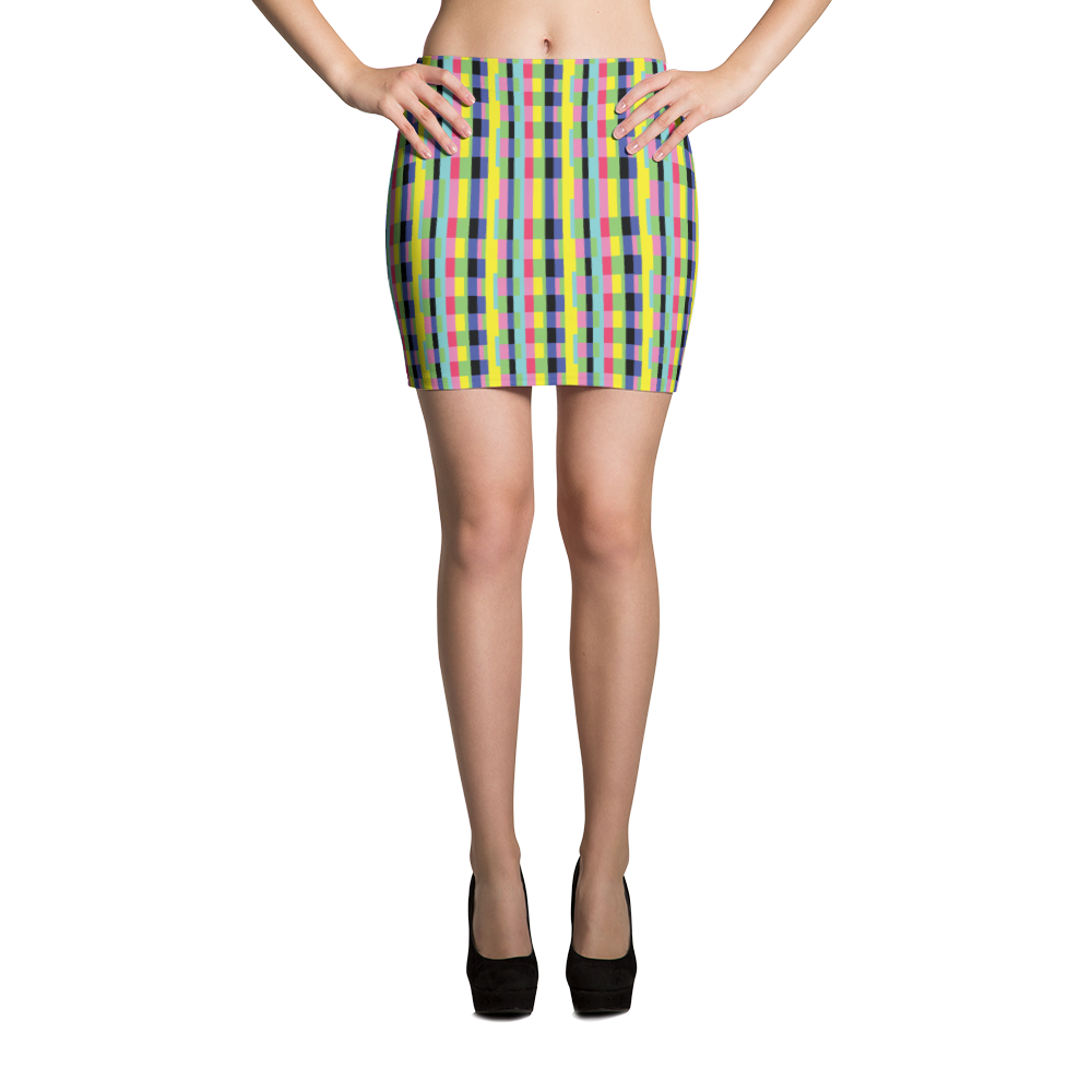 Mini Skirt / Color Blocks - ZBAZAAR