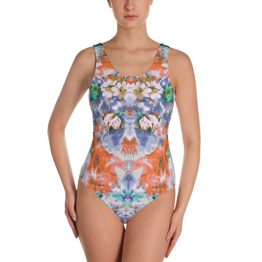 Mystery Garden One-Piece Swimsuit - ZBAZAAR