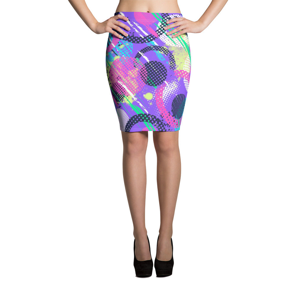 Colorful Burst Pencil Skirt - ZBAZAAR