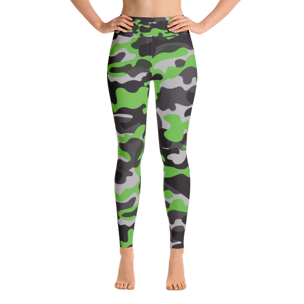 Yoga Leggings / Green Camo - ZBAZAAR