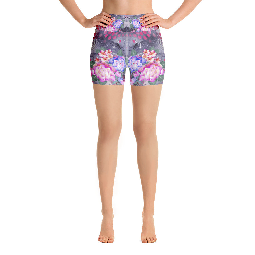 Floral Dawn Yoga Short - ZBAZAAR