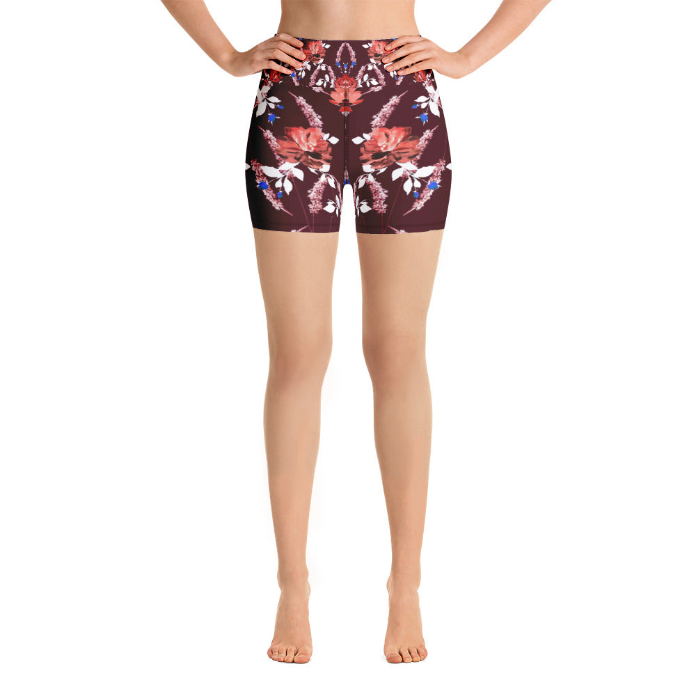 Red Garden Yoga Short