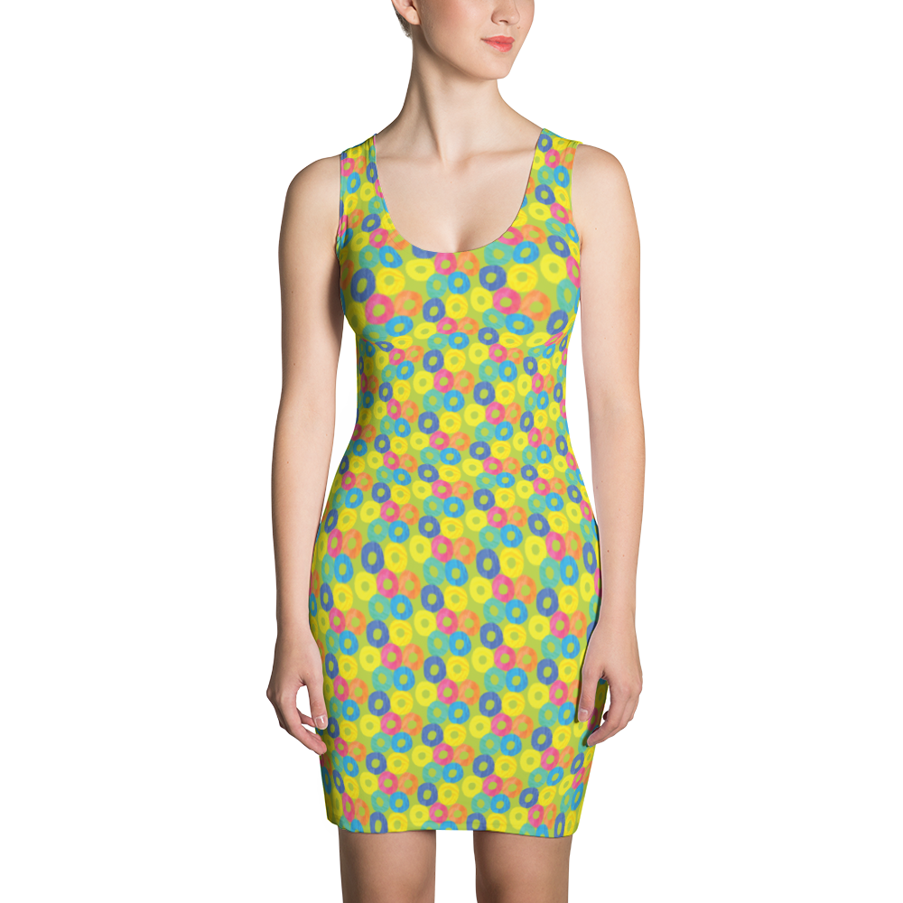 Green Donuts Sublimation Cut & Sew Dress - ZBAZAAR