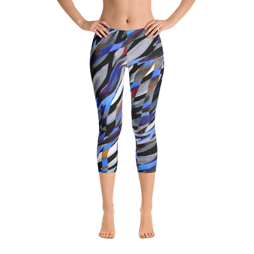 Capri Leggings / Dark Rainstorm - ZBAZAAR