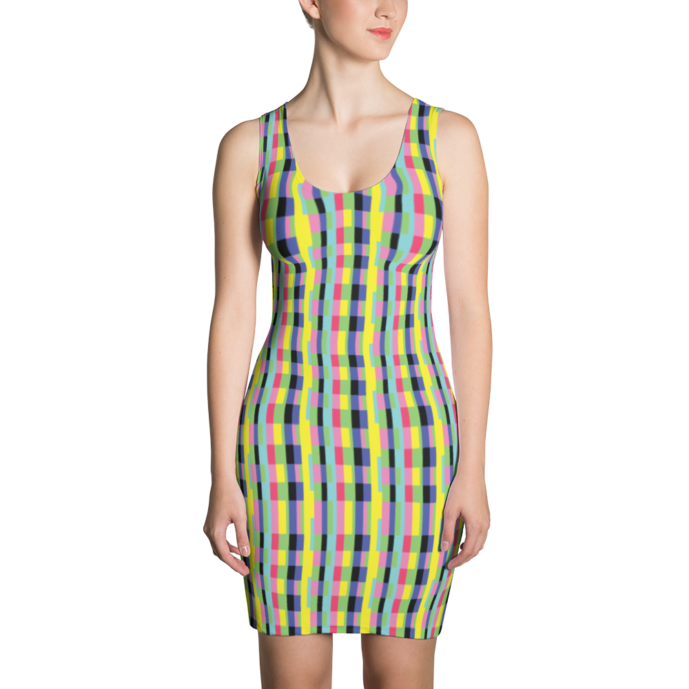 Rainbow Blocks Sublimation Cut & Sew Dress - ZBAZAAR