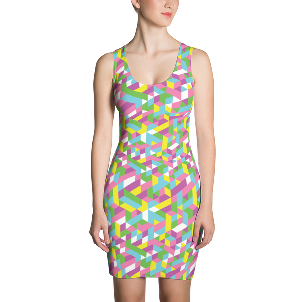 Sublimation Cut & Sew Dress / Pastel City - ZBAZAAR