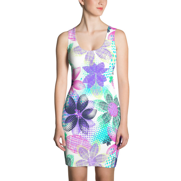 Dream Flowers Sublimation Cut & Sew Dress - ZBAZAAR