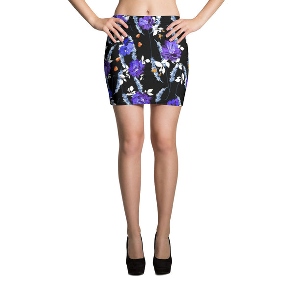Black Garden Mini Skirt - ZBAZAAR