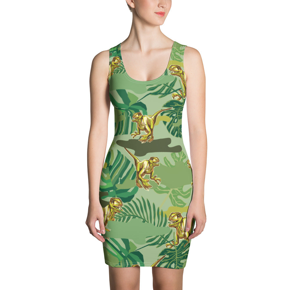 The Dinosaur Sublimation Cut & Sew Dress - ZBAZAAR