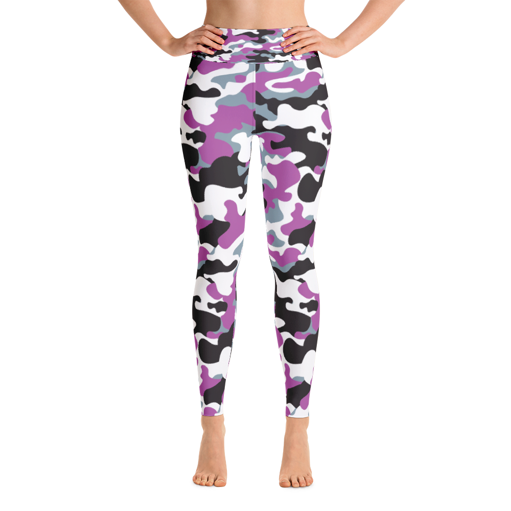 Yoga Leggings / Purple Camo - ZBAZAAR