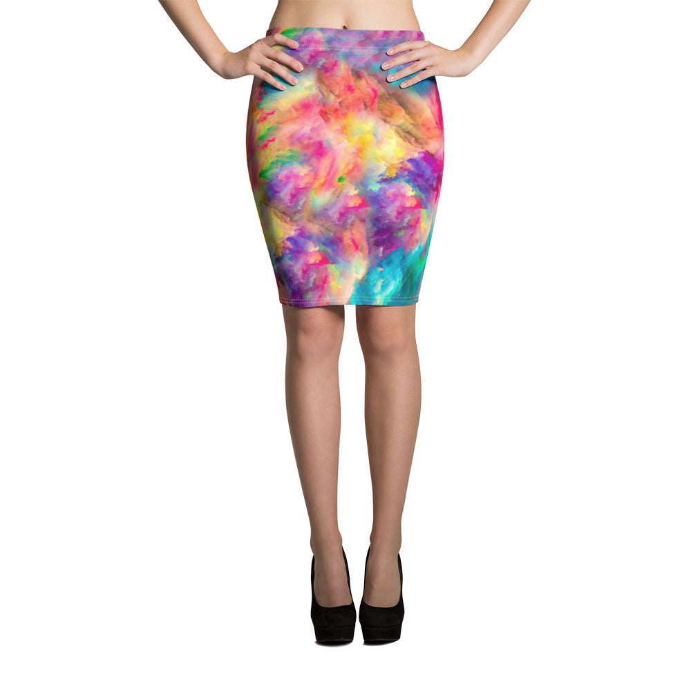 Raw Beauty Pencil Skirt - ZBAZAAR