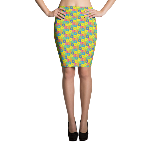 Pencil Skirt / Green Donuts - ZBAZAAR