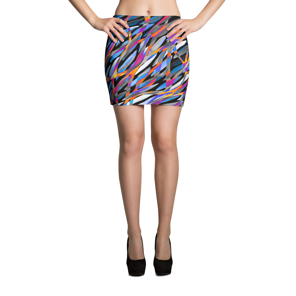 Tropical River Mini Skirt - ZBAZAAR