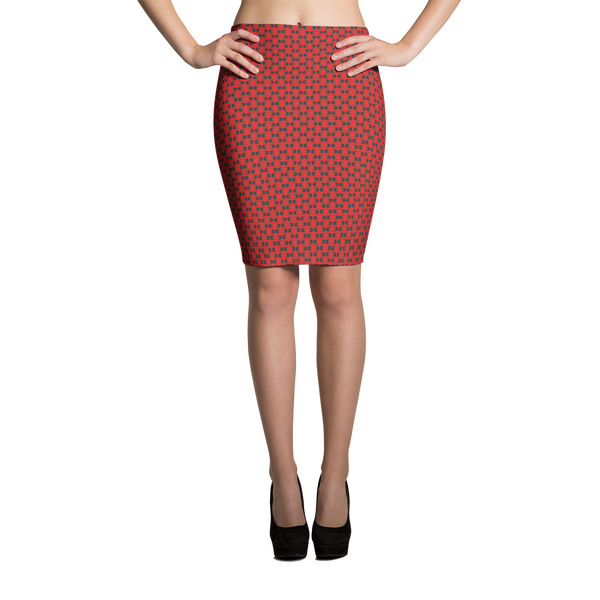 Pencil Skirt / Red Eye - ZBAZAAR
